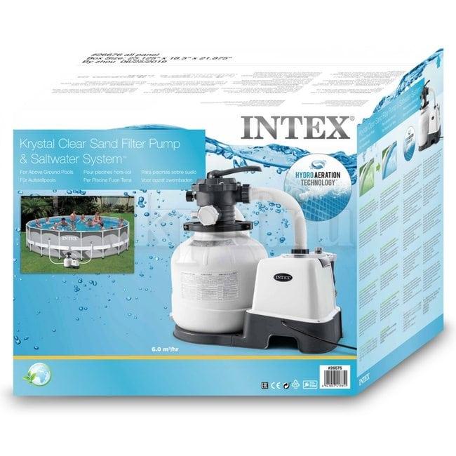 Песочный фильтр-хлоргенератор 6000 л/ч Intex 26676