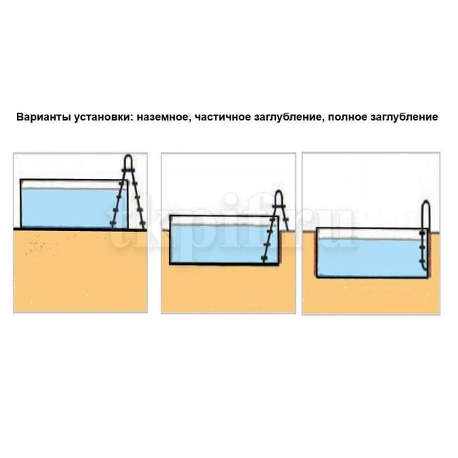 Бассейн морозоустойчивый 244x125см Лагуна ТМ235
