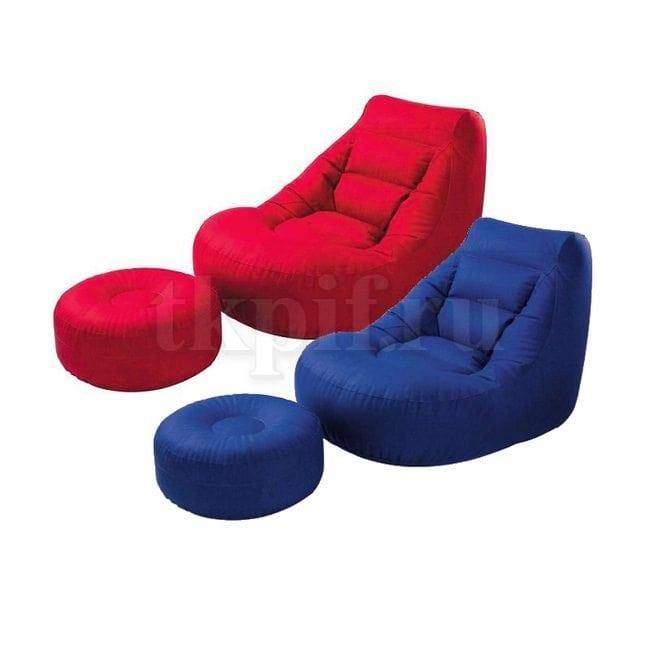 Кресло надувное с пуфом 99x119x76см Intex 68559