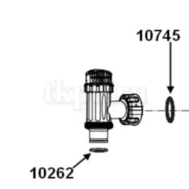 Плунжерный клапан с резьбой 38мм Intex 10747