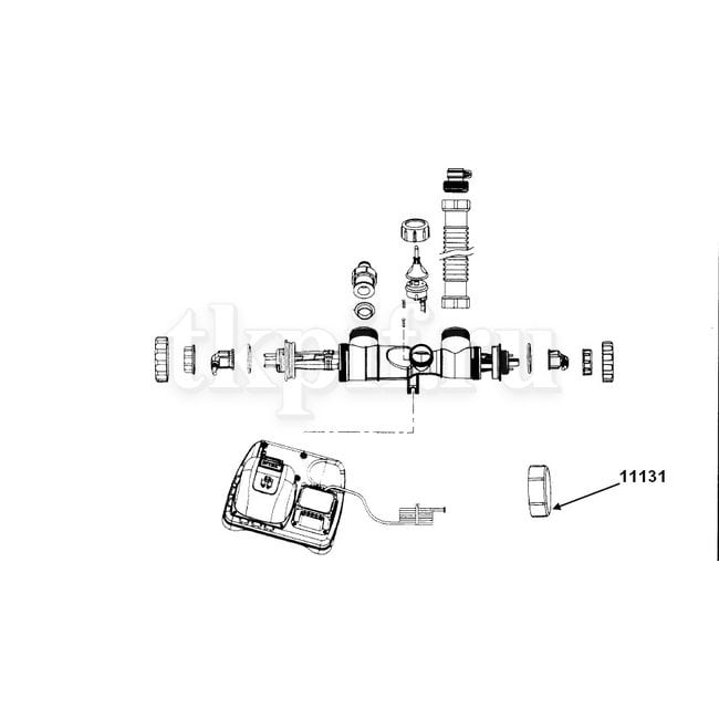Заглушка с резьбой под 38мм Intex 11131