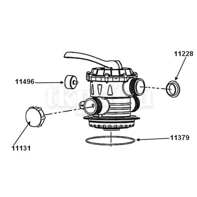 Крышка бака с 6-ти позиционным клапаном Intex 11496